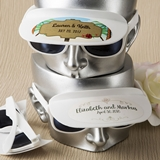 Personalized Expressions White Sunglasses and Visor Combination
