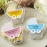 FashionCraft Personalized Baby Stroller-Shaped Favor Box