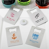 Personalized Design Your Own Stainless-Steel Credit Card Bottle Opener