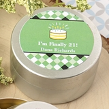 Personalized Expressions Silver-Metal Mint Tin (Birthday Designs)