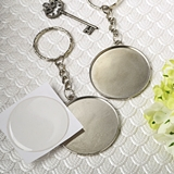 Perfectly Plain Collection Epoxy-Domed Metal Key Chain
