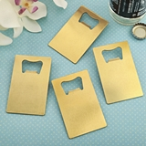 Perfectly Plain Gold Stainless-Steel Credit Card Bottle Opener