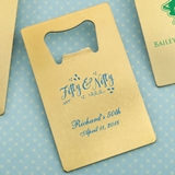 Personalized Gold-Metal Credit Card Bottle Opener (Birthday Designs)