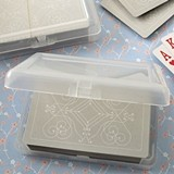 FashionCraft Designer Silver-Topped Playing Cards Deck in Plastic Case