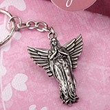 FashionCraft Guardian Angel Design Antique-Silvered-Metal Key Chain