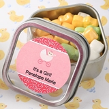 Personalized Expressions Clear-Top Square Mint Tin (Baby Shower)
