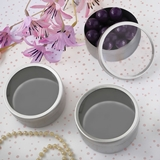FashionCraft Silver Matte Finish Clear-Top Round Mint Tins