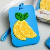 FashionCraft Tropical Citrus-Themed Rubber Luggage Tag