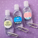 Personalized Expressions Hand Sanitizer with Caribiner (Baby Shower)