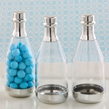 Perfectly Plain Collection Silver-Accented Champagne Bottle Container