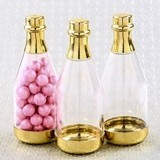 Perfectly Plain Collection Gold-Accented Champagne Bottle Container