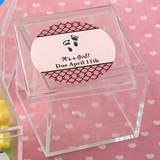 FashionCraft Personalized Expressions Square Acrylic Box (Baby Shower)