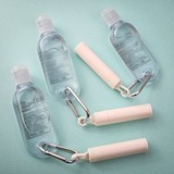 Perfectly Plain Collection Lip Balm & Hand Sanitizer with Carabiner