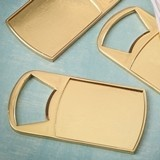 Perfectly Plain Collection Epoxy-Dome Gold-Metal Bottle Opener