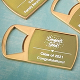 Metallics Collections Epoxy Dome Gold Bottle Opener (Celebrations)