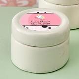 Personalized Expressions Ceramic Mint Jar w/ Epoxy Dome (Baby Shower)