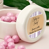 Personalized Expressions Ceramic Mint Jar with Epoxy Dome (Birthday)