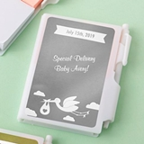 Personalized Metallics Collection White Notebook w/ Pen (Baby Shower)