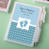 Personalized Expressions Collection White Notebook (Baby Shower)