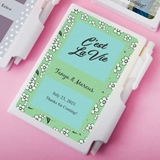 Personalized Expressions Collection White Notebook w/ Pen, Sticky Tabs