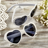 FashionCraft Perfectly Plain Collection Heart-Shaped White Sunglasses