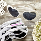 Design Your Own Screen-Printed Heart-Shaped Sunglasses (Baby Shower)