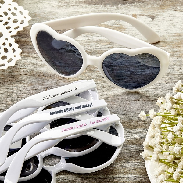 Design Your Own Screen-Printed Heart-Shaped Sunglasses (Birthday)