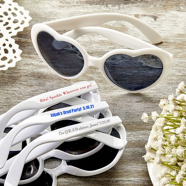 Design Your Own Screen-Printed Heart-Shaped Sunglasses (Graduation)