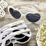 FashionCraft Metallic-Personalization Heart-Shaped White Sunglasses