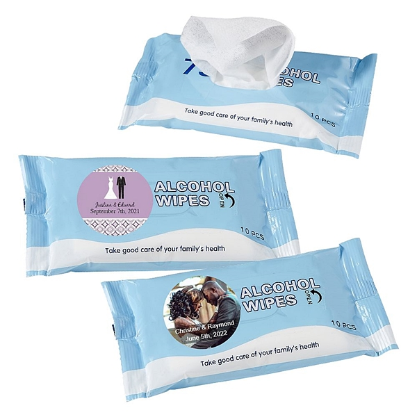 Personalized Expressions Collection 75% Alcohol Wipes Pack (Wedding)