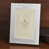 FashionCraft Silver-Plated Two-Toned Engraved 4 x 6 Picture Frame