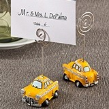 FashionCraft Miniature NYC Yellow Taxicab Replica Place Card Holder