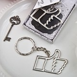 FashionCraft Like Us For Love Thumbs Up Silver Metal Keychain