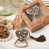 FashionCraft Antique-Copper-Colored-Metal Heart-Topped Bottle Opener