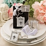 FashionCraft Holy Bible Key Chain w/ Real Miniature Paper Bible Inside