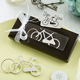 FashionCraft Silvered-Metal Bicycle Key Charm Bottle Opener