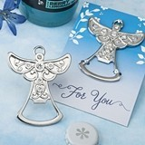 FashionCraft Guardian Angel Design Silver-Colored Metal Bottle Opener
