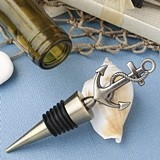 FashionCraft Stylish Nautical-Themed Anchor Motif Metal Bottle Stopper