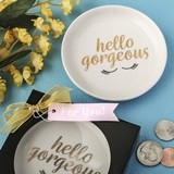 FashionCraft Hello Gorgeous White Ceramic Jewelry/Change Dish
