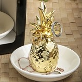 FashionCraft 'Warm Welcome' Ceramic Pineapple Ring and Jewelry Holder