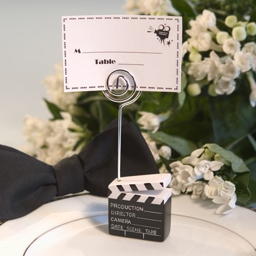 FashionCraft Delightful Movie Clapper Placecard Holder