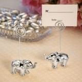 FashionCraft Silver Finish Elephant Place Card Holder