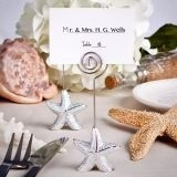 FashionCraft Silver-Toned Starfish Beach-Themed Placecard Holders