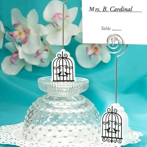 FashionCraft Elegant Birdcage-Shaped Placecard Holder