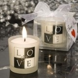 FashionCraft Table Candle: L-O-V-E Is in the Air