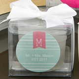 FashionCraft Monogram Design Collection Personalized Candle Favor