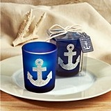 FashionCraft Bling-Loaded Anchor Design Votive Holder