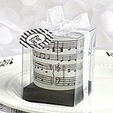 FashionCraft Musical Notes Design Frosted Class Candle Holder