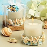 FashionCraft Life's a Beach Collection Seashell-Motif Candle Holder