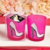 Girly High Heel Shoe Design Glass Votive Holder